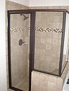 Framed Glass Shower Stall-Bronze-sm